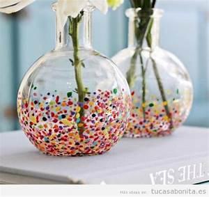 Jarrones DIY bonitos y originales para decorar tu csa Tu casa Bonita