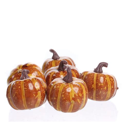 small artificial pumpkins bowl and vase fillers fall