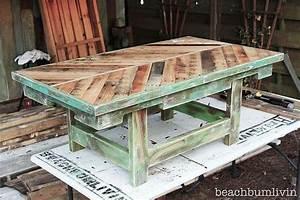 Plan De Table Palette : 17 brilliant diy pallet tables ~ Dode.kayakingforconservation.com Idées de Décoration