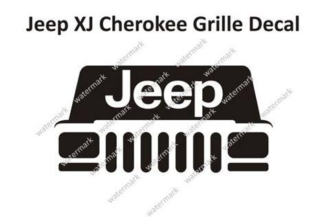 jeep cherokee grill logo jeep xj cherokee classic sport grille logo decal sticker