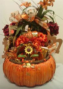 Here, U0026, 39, S, Another, Past, Fall, Gift, Basket, Decoration, Where, The, Basket, Was, A, Pumpkin