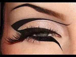 Creative black graphic eyeliner makeup tutorial / Dramatic ...