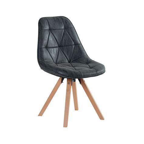 chaise ancienne cuir et bois chaise scandinave imitation cuir et pieds en pin massif