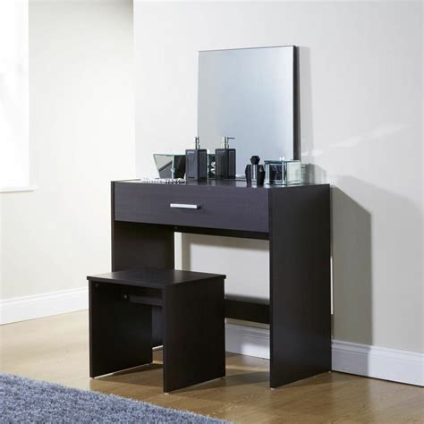 dressing table vanity sets simple espresso dressing table set vanity desk stool