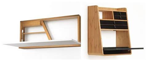 bureau gain de place design petit bureau gain de place mini bureau mural bois design à
