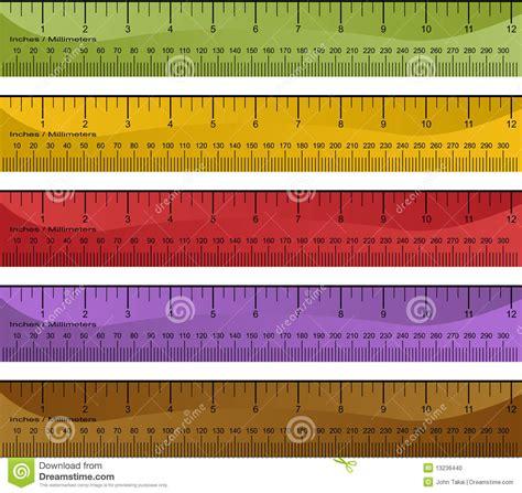 millimeter inch ruler set stock photo image 13236440