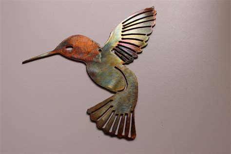 hummingbird metal wall art decor by heavensgatemetalwork