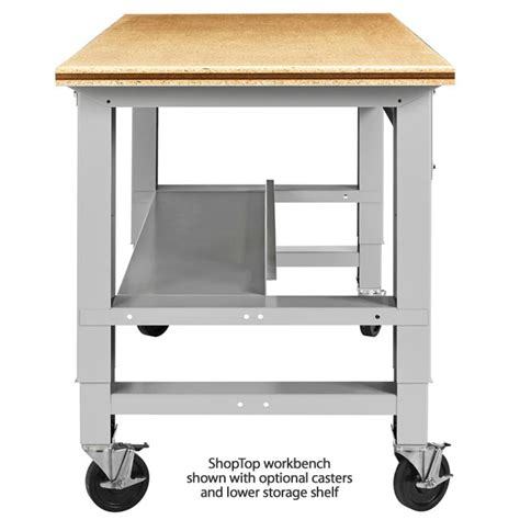shop table on wheels diversified fab lab workbench lower shelf for 72 quot w