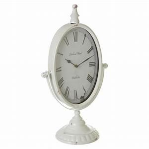 Premier, Housewares, Antique, Mantle, Clock, White, Metal, Home, Mantel