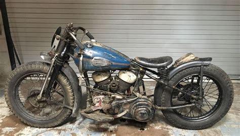 harley davidson wla barnfind racer 1942 harley davidson wla bike urious