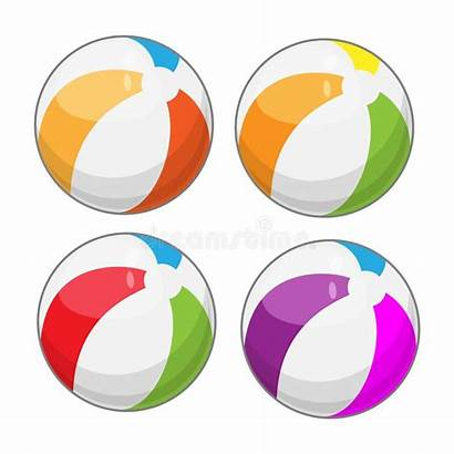 Balls Four Clipart Ball Different Cartoon Colors