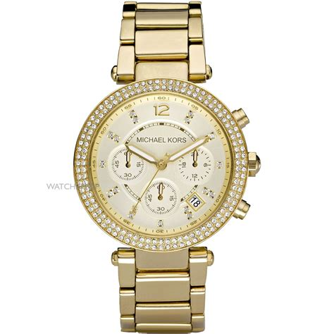 Ladies' Michael Kors Parker Chronograph Watch (mk5354. Basketball Net Chains. Black Bead Chains. Temple Chains. 14kt Gold Chains. Wastage Chains. Middle Finger Chains. Georgian Chains. Woman 24k Chains
