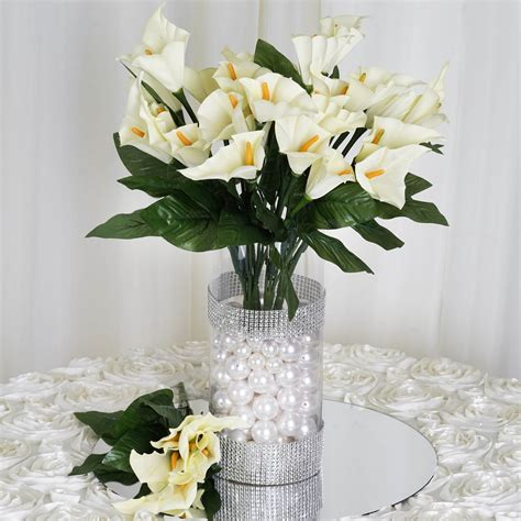 silk calla lily flowers  wedding bouquets