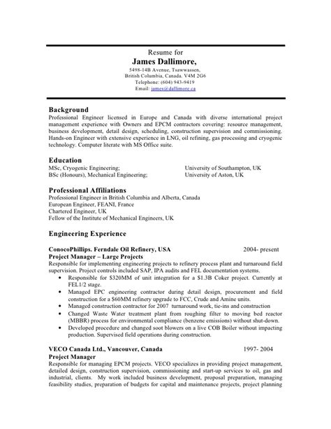 Wastewater Treatment Resume resume doc