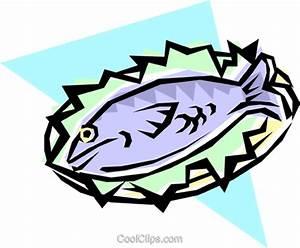 Fish dinner Royalty Free Vector Clip Art illustration ...