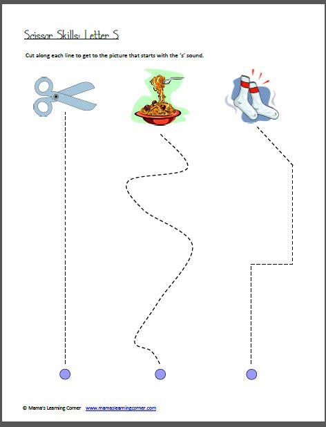 scissor skills letter s learning preschool worksheets 225 | 1f6f94c952be119798aaf72f27b8b28e