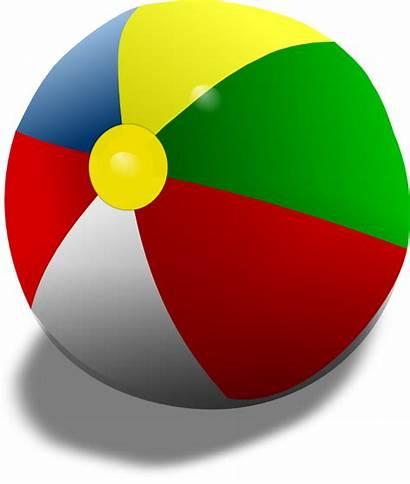 Ball Beach Clipart Clip Remix Vector Balls