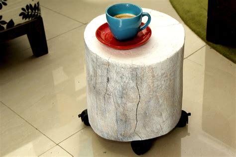 tree stump coffee table  steps