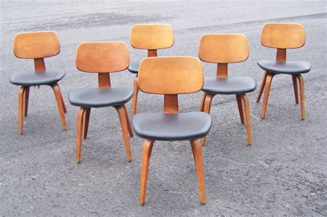 mid century modern set of 6 thonet bentwood chairs c1950