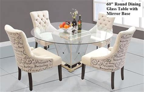 round mirrored dining room table round dining table with mirror base