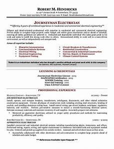 Example Journeyman Electrician Resume