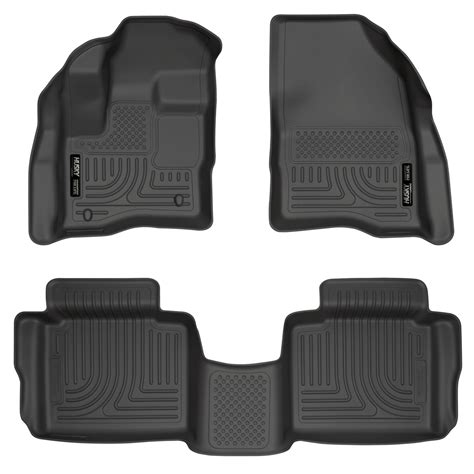 floor mats for husky weatherbeater all weather floor mats for 2010 2016 ford taurus ebay