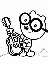 Wubbzy Wow Coloring Walden Guitar Xcolorings Toy Printable Raskrasil sketch template