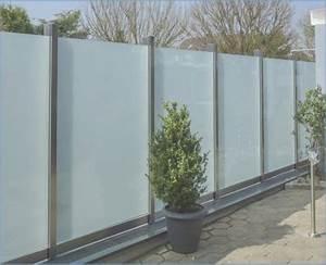 Zaun Aus Glas : trennwand garten glas ~ Michelbontemps.com Haus und Dekorationen