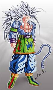 Dragon Ball AF - After The Future: Super Saiyan 5 Goku Fan Art