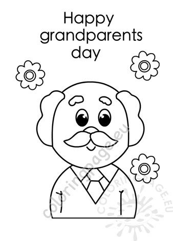 happy grandparents day grandfather coloring page