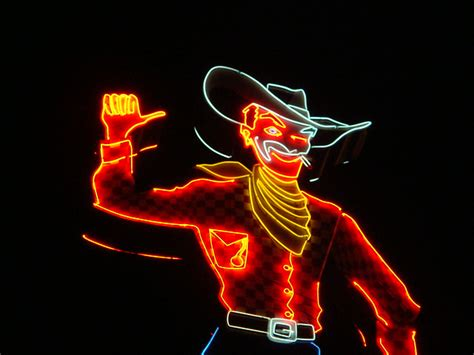 neon cowboy flickr photo sharing