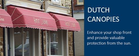dutch canopy awnings dutch canopies sun shade solutions  shops  samson awnings
