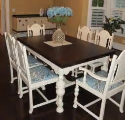 Dining Room Table Chalk Paint by Dining Room Table And Chair Set In Java Gel Stain And