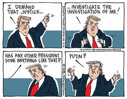 Investigation Cartoons Trump Funny Mueller Probe Editorial