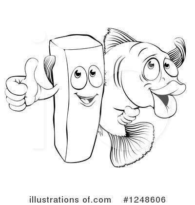 fish  chips clipart  illustration