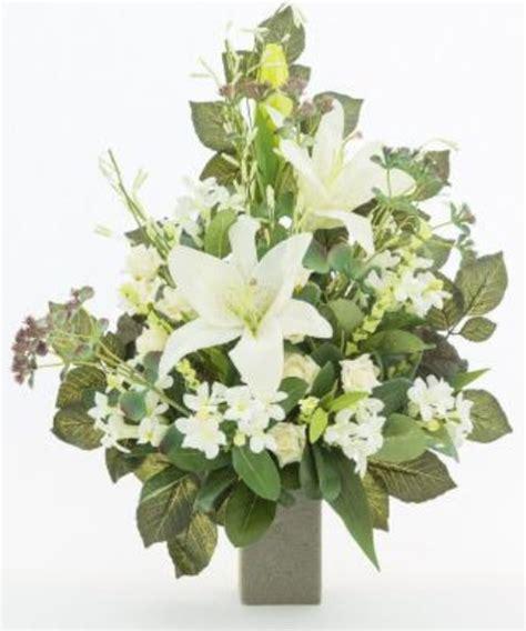mazzi di fiori finti mazzo di fiori artificiali per loculo con gigli ml005