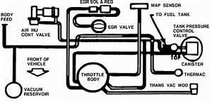 Solved  Diagram Of Vacuum Hoses For 1989 Cadillac Deville