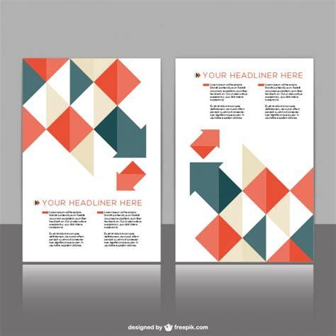 Template Folding Brochure Design Style Material Polygonal Brochure Template Vector Free