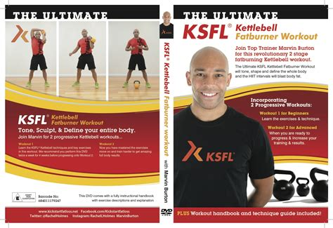 dvd kettlebell ksfl workout ultimate fatburner burton marvin