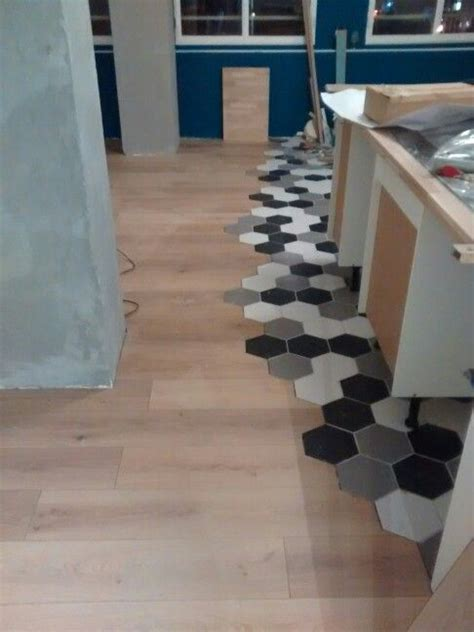 revetement sol design parquet carrelage hexagonnal deco design