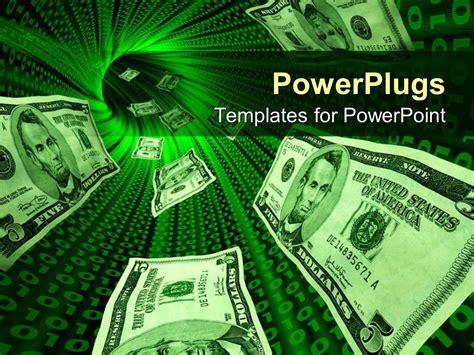 powerpoint template money bills flowing   tunnel