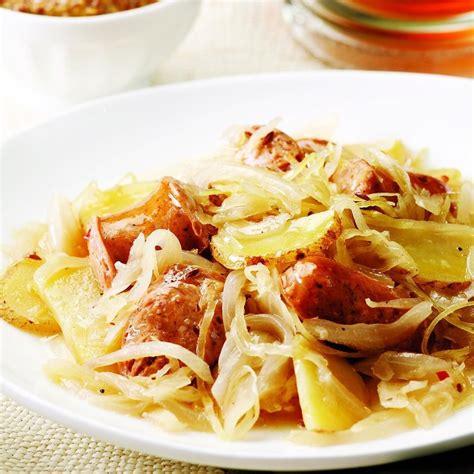 Chicken Sausage with Potatoes & Sauerkraut Recipe - EatingWell