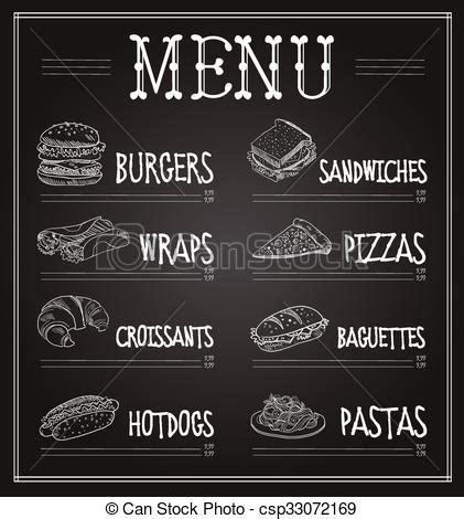 chalkboard logo templates free chalkboard menu template vector illustration chalkboard