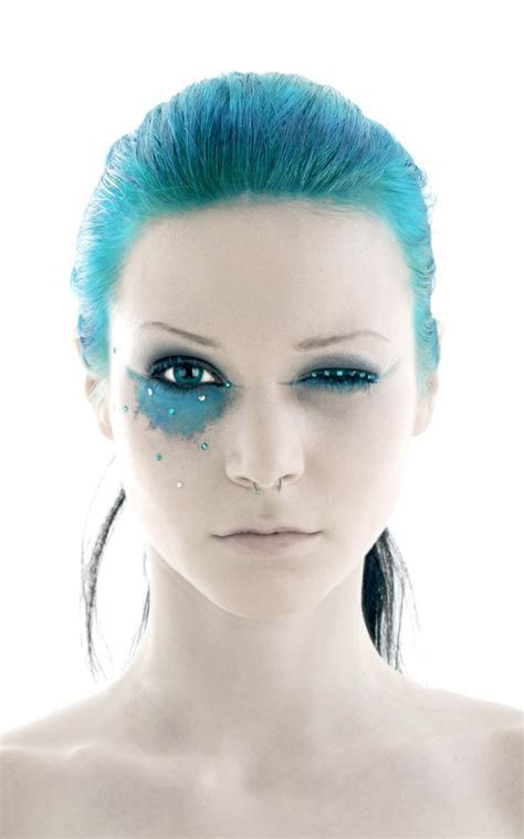 best make up, pirate makeup, blue hair, paint   Fav Images