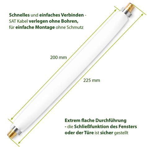 Sat Kabel Flach 3x Sat Hdtv Fensterdurchf 252 Hrung Flach Antennen Kabel 22cm F Verbinder Vergoldet Technik Sat