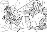 Thanos Spiderman Pages Avengers Coloring Infinity Vs War Marvel Printable Gauntlet Thor Coloringonly Games Cartoon America Categories Nano Coloringgames sketch template