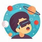 Reality Augmented Space Icon Illustration Virtual Astronomy