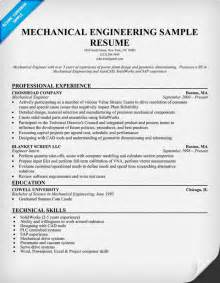 engineering resume exles 2013 sle resume for a mechanical engineer apps directories