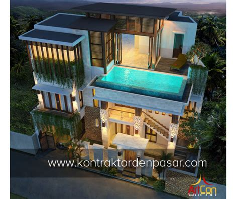 desain rumah mewah 3 lantai luas 383m2 pak made di nyitdah