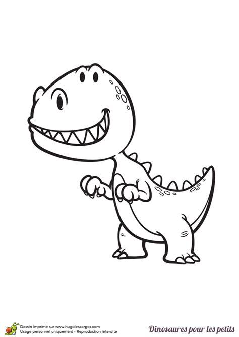 Coloriage D'un Dinosaure Pour Les Petits, Un Trex